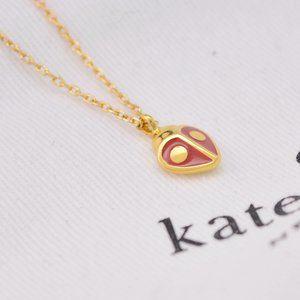 Kate Spade Enamel Glaze Ladybug Necklace